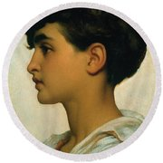 Paolo Round Beach Towel by Frederic Leighton