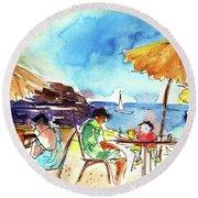 Papagayo Beach Bar In Lanzarote Round Beach Towel