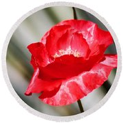 Paper Flower II Round Beach Towel