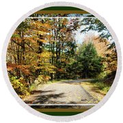 Paper Mill Trail, Framed Round Beach Towel