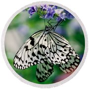 Paper Rice Butterfly Round Beach Towel