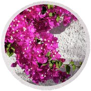 Papery Pink Riot Round Beach Towel