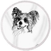 Papillon Round Beach Towel