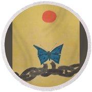 Papillon Round Beach Towel