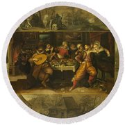 Parable Of The Prodigal Son Round Beach Towel