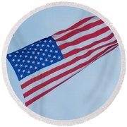 Parachute And Flag Round Beach Towel