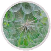 Parachutes For Seeds Round Beach Towel