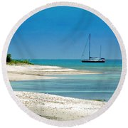 Paradise Found Round Beach Towel