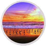 Paradise Found, Huntington Beach, California, Catalina Island Round Beach Towel