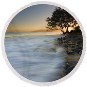 Paradise Gold Round Beach Towel by Mike  Dawson