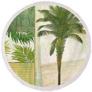 Paradise I Round Beach Towel