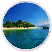 Paradise Island Haiti Round Beach Towel