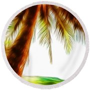 Paradise Palm Round Beach Towel
