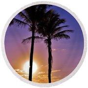 Paradise Palms Round Beach Towel