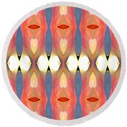 Paradise Repeated Round Beach Towel by Amy Vangsgard