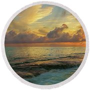 Paradise Sunset Round Beach Towel