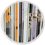 Parallel Lines Round Beach Towel