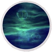 Parallel Universe  Round Beach Towel