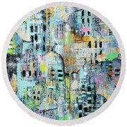 Parallel Worlds Round Beach Towel