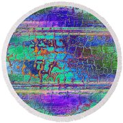Parched - Abstract Art Round Beach Towel