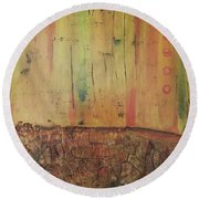 Parched Round Beach Towel