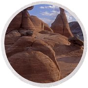 Paria Canyon Hoodoos Round Beach Towel
