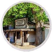 Parimount Ranch Sheriff Office Round Beach Towel