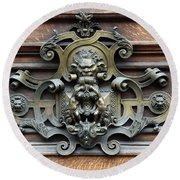 Paris - 19th Century Brass Door Knocker Round Beach Towel