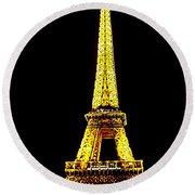 Paris 4 Round Beach Towel