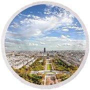 Paris City View 20 B Round Beach Towel