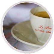 Paris Coffee Round Beach Towel