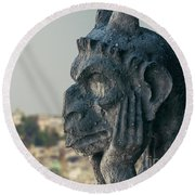 Gargoyle Of Paris Round Beach Towel
