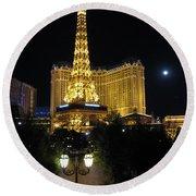 Paris Las Vegas Round Beach Towel
