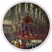 Paris: Notre Dame, 1841 Round Beach Towel