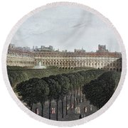 Paris: Palais Royal, 1821 Round Beach Towel