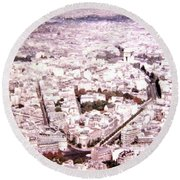 Paris Panorama 1955  Round Beach Towel