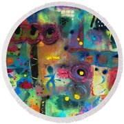 Paris Rush Hour Round Beach Towel