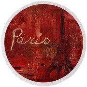 Paris - V01ct1at2cc Round Beach Towel