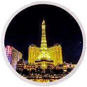 Paris Vegas Round Beach Towel