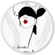 Paris Vintage Fashion Round Beach Towel