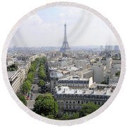 Paris01 Round Beach Towel