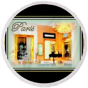 Parisian Salon Round Beach Towel