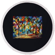 Park Of Freedom Round Beach Towel