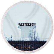Parkade - Downtown Spokane Round Beach Towel