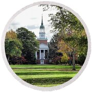 Parker Hall - Hanover College Round Beach Towel
