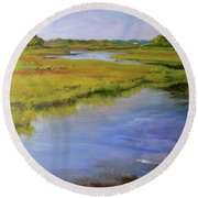 Parker's River, Cape Cod Round Beach Towel