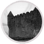 Parkes Castle County Leitrim Ireland Round Beach Towel