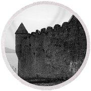 Parkes Castle County Leitrim Ireland Round Beach Towel