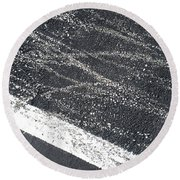 Parking Lot 5 Round Beach Towel