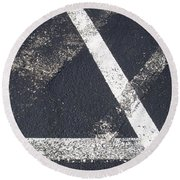 Parking Lot 6 Round Beach Towel